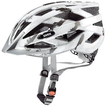 Uvex I-VO C - Casco de ciclismo para hombre, color blanco/plata