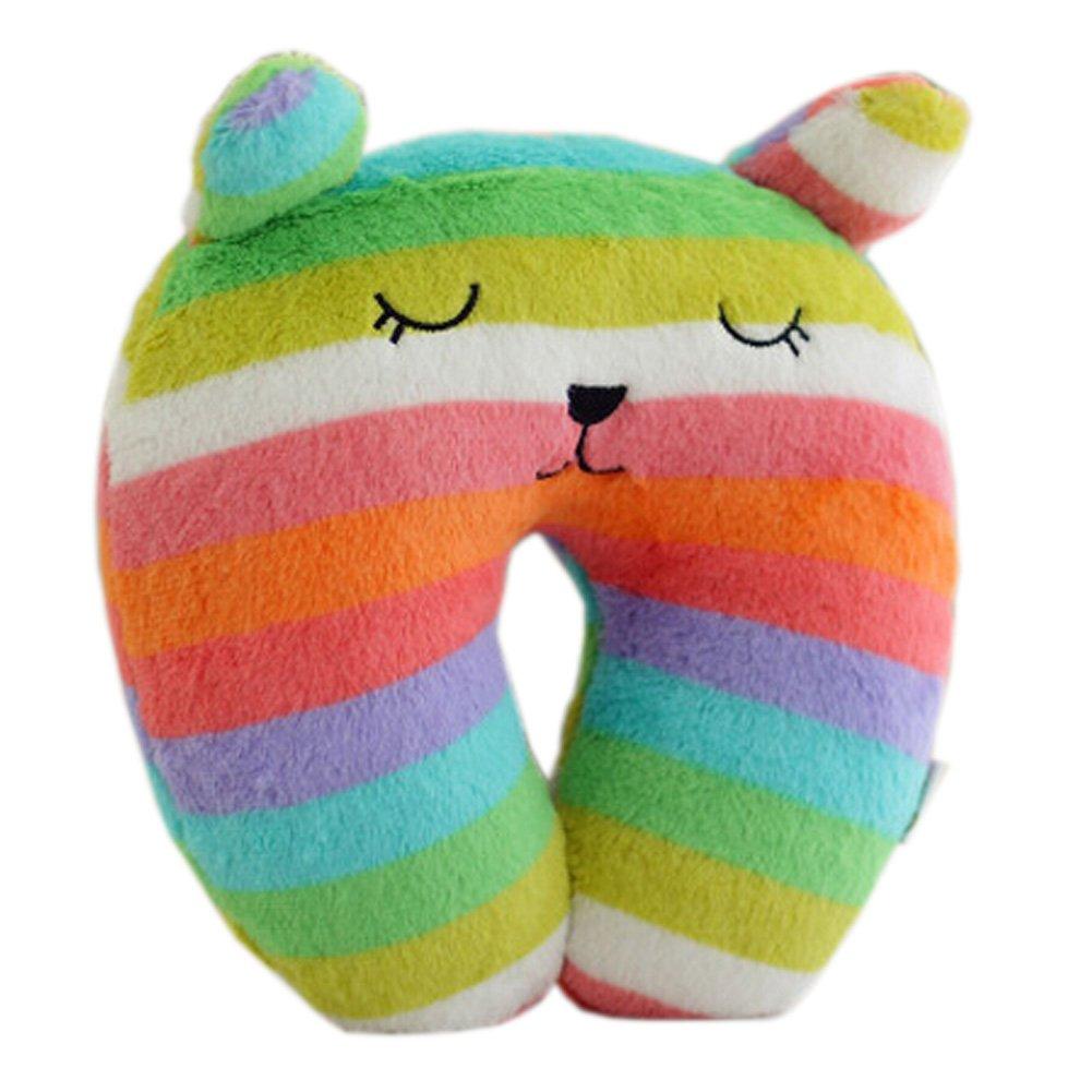 Kinder-Regenbogen Farben U-geformte Kissen Hals und Kopf St/ützkissen