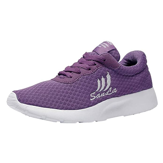 Logobeing Zapatillas Deportivas de Mujer, Running Mujeres - Deportivas Mujer, Casual Zapatillas de Deporte de Malla Transpirable Zapatos de Estudiante ...
