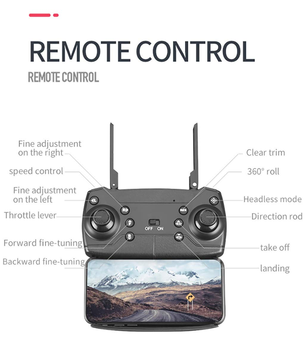 LikeroThe First 4K UAV on The Market-- M6-4K 2.4G Drone, Altitude Hold 4K WiFi Camera FPV Optical Flow RC Quadcopter by Likero (Image #3)