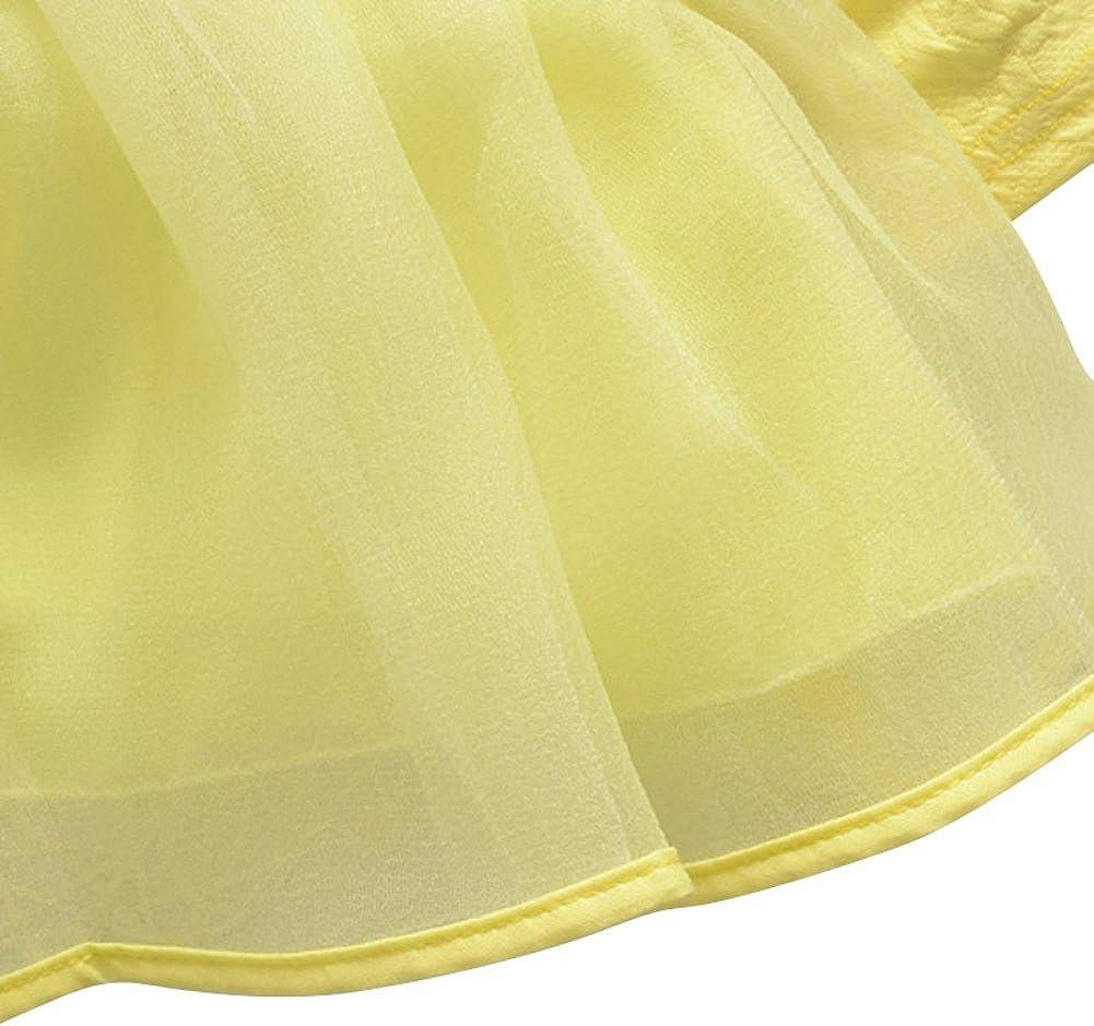 Soly Tech Baby Girl Flower Long Sleeve Party Birthday Princess Infant Tutu Dress