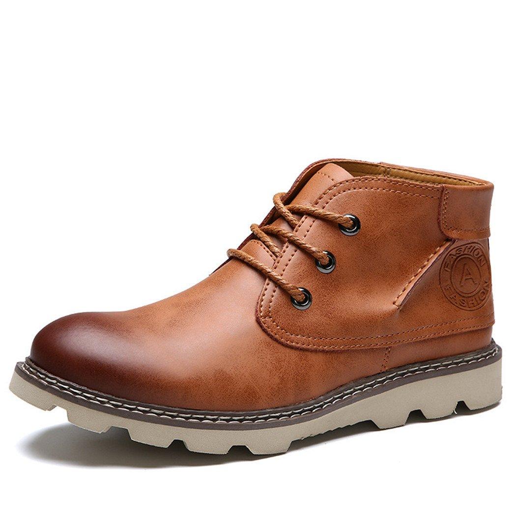 ZQ@QXHombre de invierno para aire de ocio al aire libre Martin botas zapatos,brown,42 42|brown brown