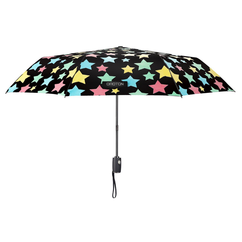 Paraguas Plegable-con 8 Varillas,OMOTON Paraguas Automático de Viaje de Color Negro, Decoloración de Paraguas,Un Paraguas Mágico: Amazon.es: Equipaje