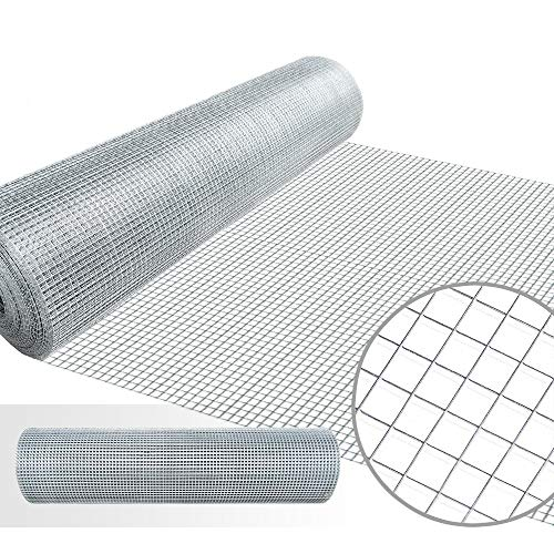 - 1/4 Hardware Cloth 36 x 50 23 gauge Galvanized Welded Wire Metal Mesh Roll Vegetables Garden Rabbit Fencing Snake Fence for Chicken Run Critters Gopher Racoons Opossum Rehab Cage Wire Window