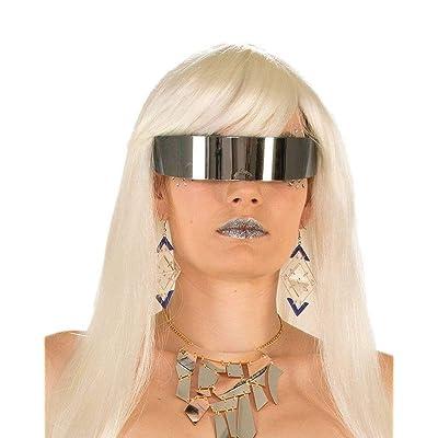 Futuristic Mirror Wrap Around Glasses: Toys & Games