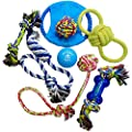 Otterly Pets Dog Toys Pet Supplies - Assorted Tough Ropes and a Single Indestructible Natural Rubber Ball for Small to Medium Dogs (8-Pack) from Otterly Pets