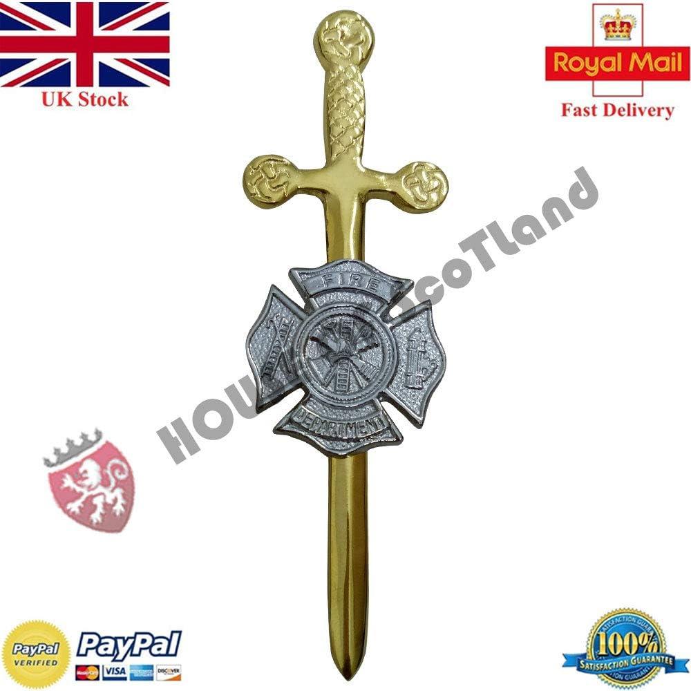 """New Fire Department Kilt Pin Chrome Finish//Celtic Kilt Pin//Fire Dept Kilt Pin 4/"""""""