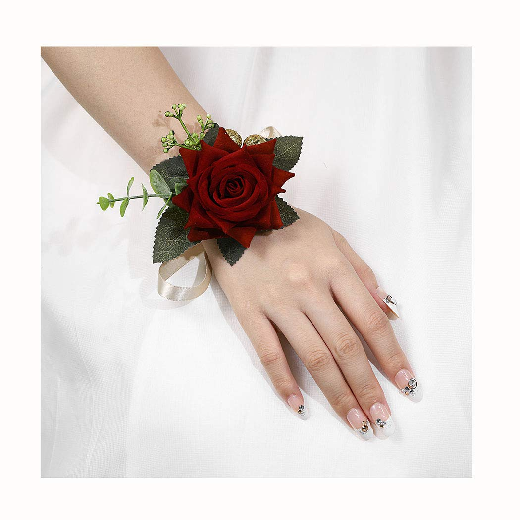 Campsis Wedding Wrist Corsage Bridal Wrist Flower Bride