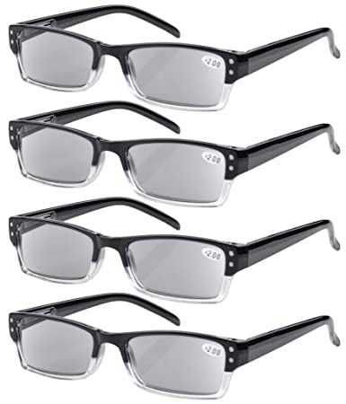 9379245b7ac4 Image Unavailable. Image not available for. Color  Eyekepper 4-pack Spring  Hinges Rectangular Reading Glasses ...
