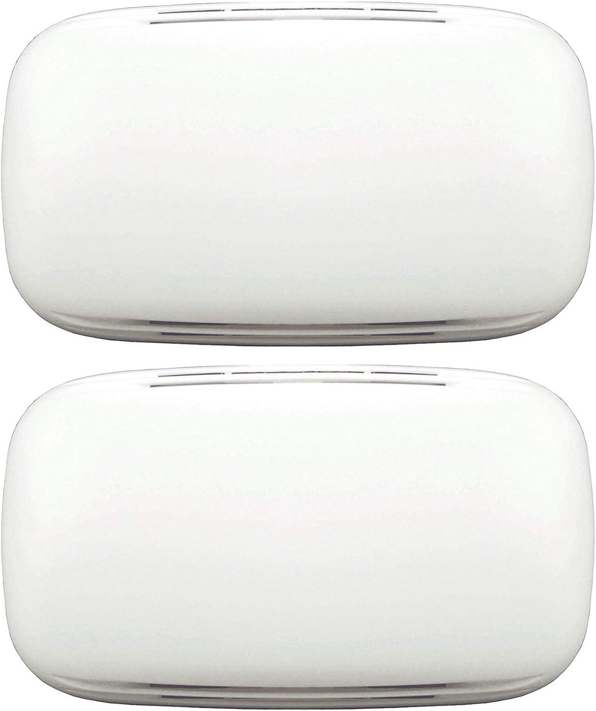 Heath Zenith 35/M Wired Door Chime with Sleek Modern Design Cover Bundle (White / 2 Pack)