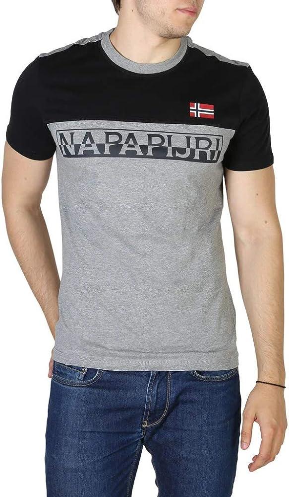 Napapijri Camiseta Saras Med Grey Mel S, Gris: Amazon.es: Ropa y accesorios