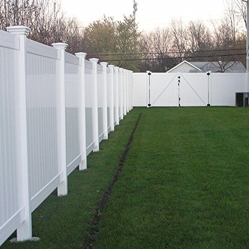 Savannah 4 ft. H x 8 ft. W White Vinyl Privacy Fence ()