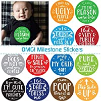 My First OMG Moments Monthly Baby Stickers