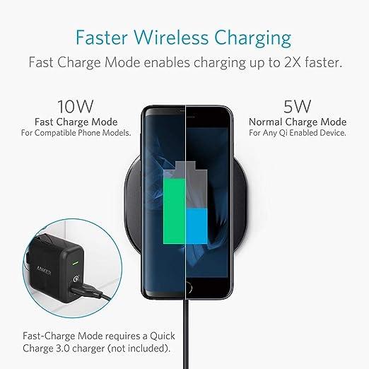 Wireless Charger, Anker 10W Qi Certified Wireless: Amazon.co