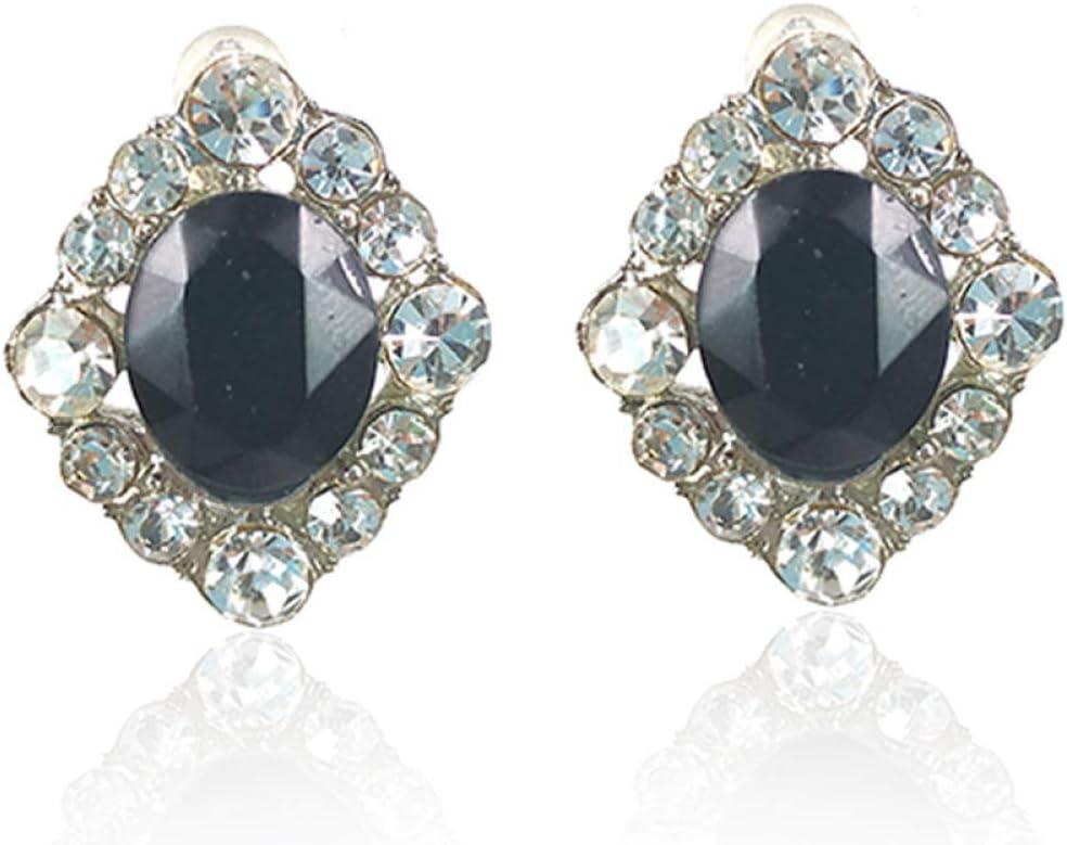 SUNHAO Pendientes Estilo Bohemio Retro Pendientes Largos Pendientes de Piedras Preciosas con Diamantes/Pendientes de niña Femenina Accesorios de joyería para Mujeres