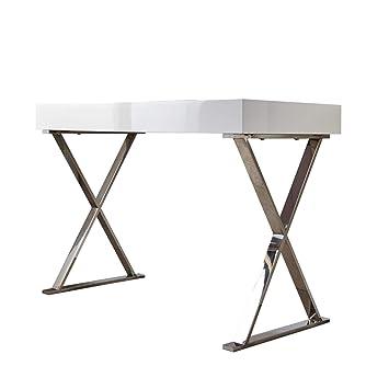 Riess Ambiente Design Schreibtisch Grace Hochglanz weiß ...