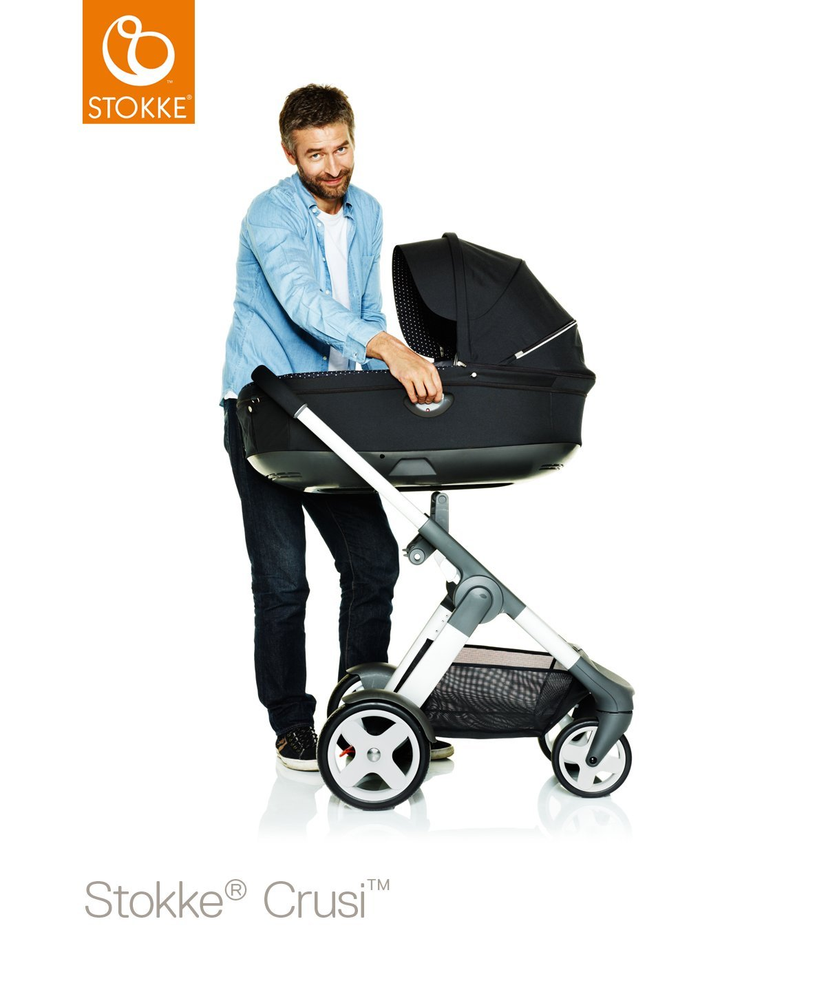 Stokke Crusi Carry Cot - Purple by Stokke (Image #3)