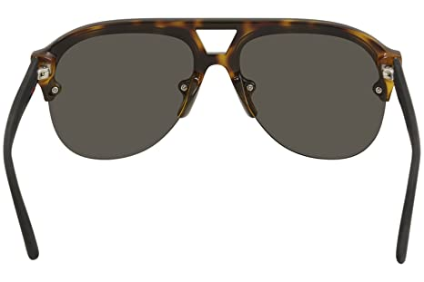 e4f262a6510 Amazon.com  Gucci GG 0170 S- 003 HAVANA   GREY BLACK Sunglasses  Clothing
