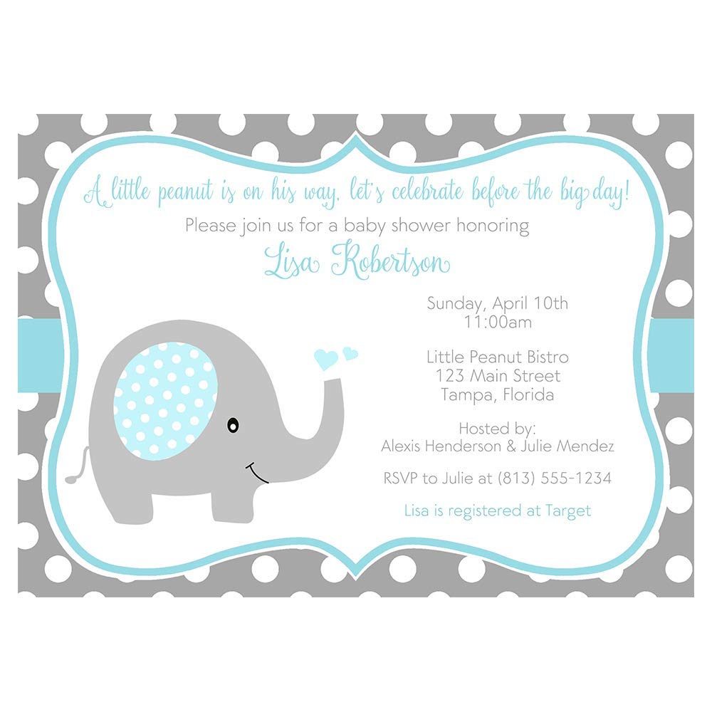 It's just a graphic of Free Printable Elephant Baby Shower Invitations for it's