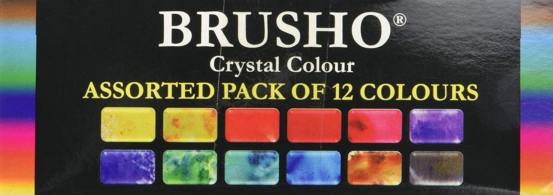 Brusho Cristal Couleurs Set 12 Pkg