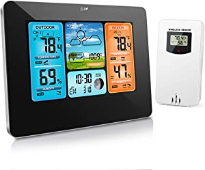 HALOFUN Weather Station, FJ3373 Wireless Indoor Outdoor Thermometer