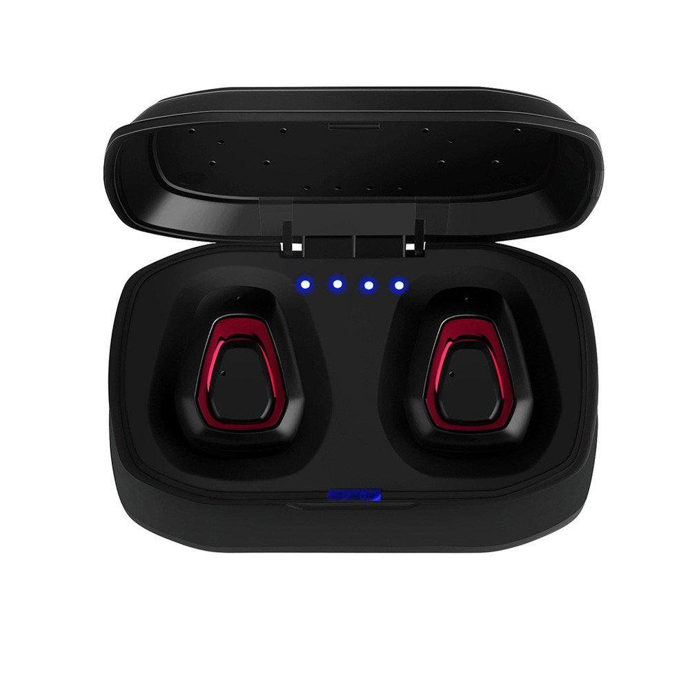 Colmkley ミニトゥルーワイヤレススポーツイヤホン ヘッドセット Bluetooth HiFi インイヤーステレオヘッドホン Free レッド   B07RF7CS7J
