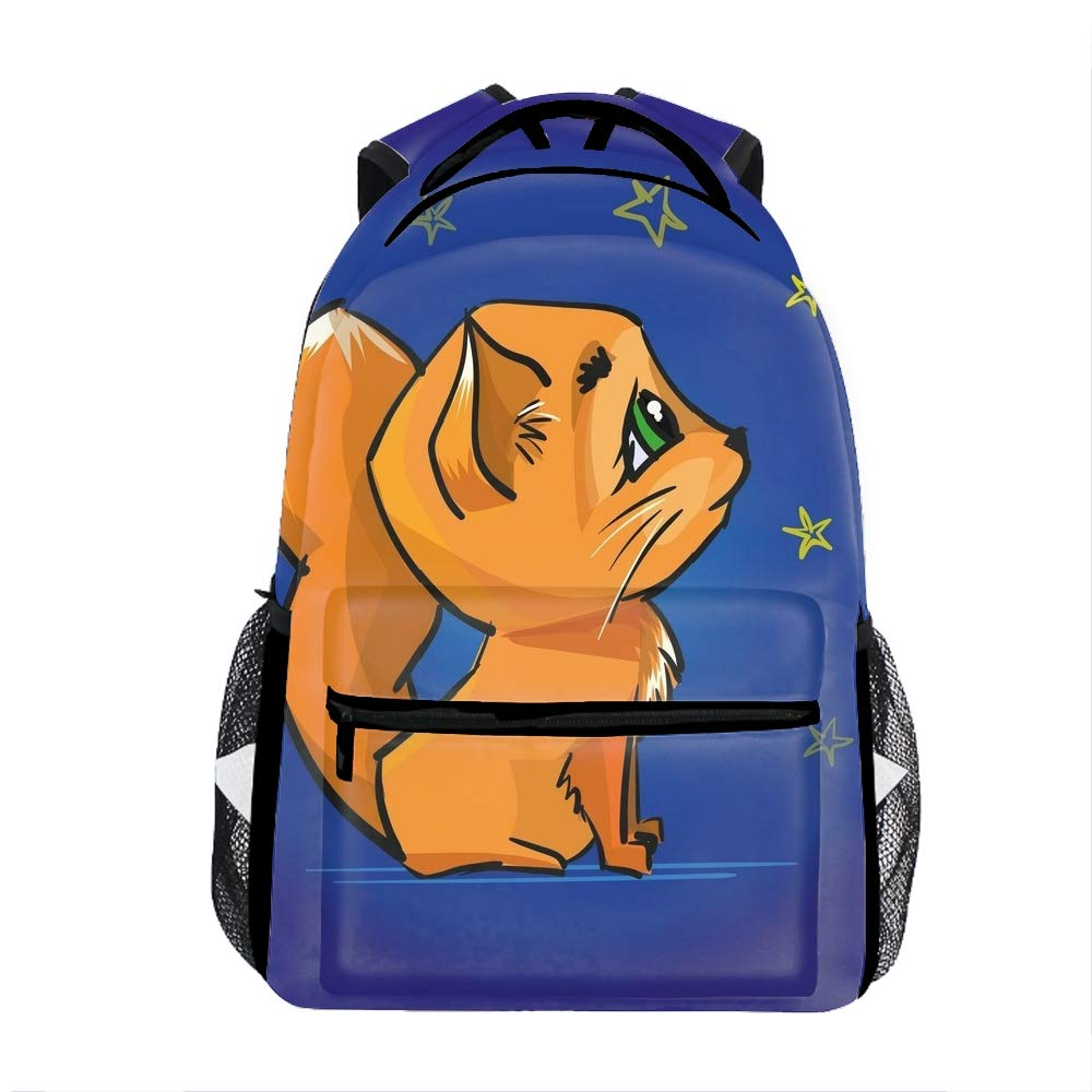 Cat looking8 Cute Bear Casual Backpack Bag, Fashion Lightweight Backpacks for Teen Young Girls