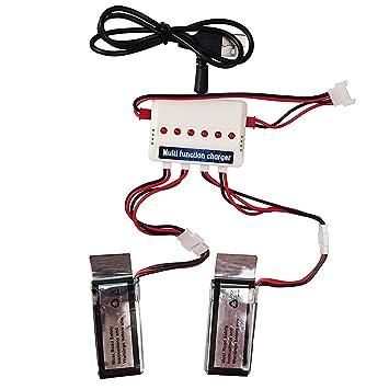 Wwman 2pcs 3.7V 350mah baterías y 1to3 Cargador de batería ...