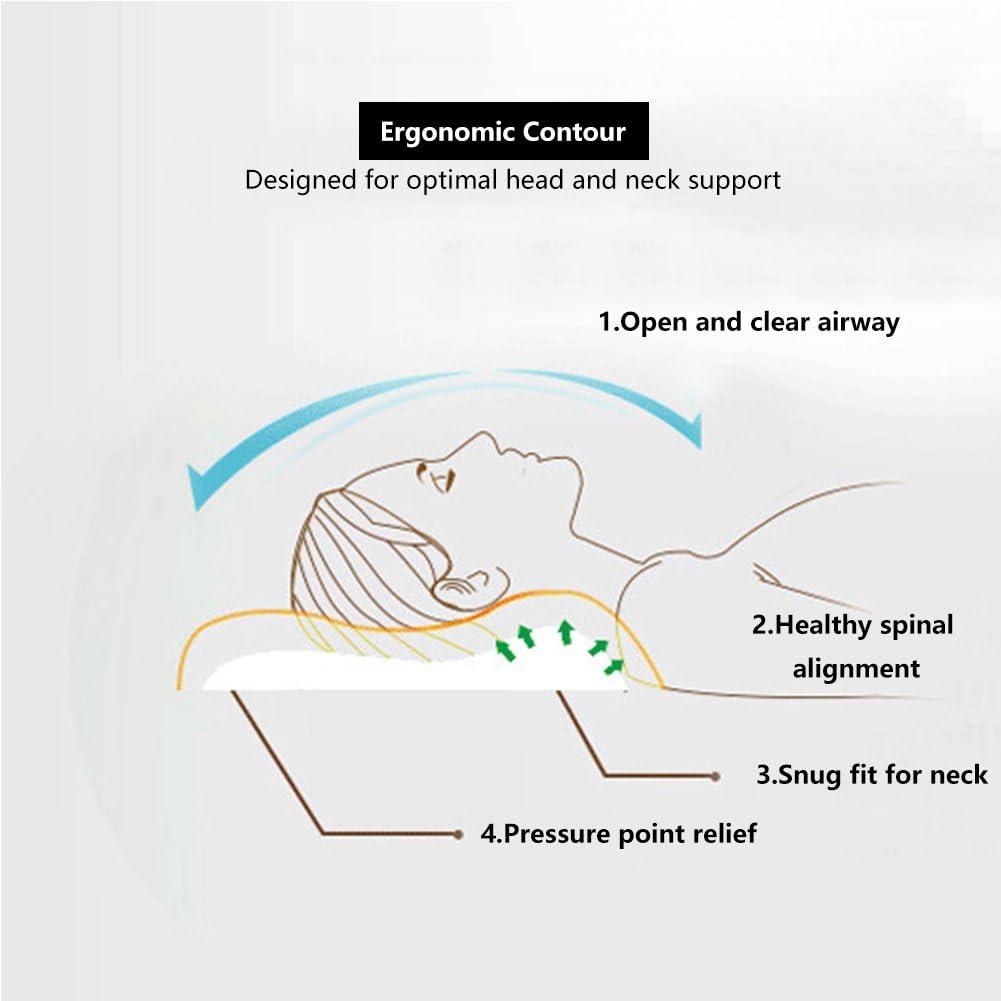 Nackenmassage hypoallergen Latex Kopfkissen Latexkissen Anti-Milbe Staub NewMum Ergonomische mit Kissenbezug f/ür Verbesserung der Schlaflosigkeit antibakteriell