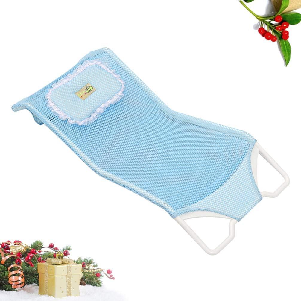 Toyvian Baby Bath Support Seat Baby Shower Mesh Anti-Slip Newborn Baby Bath Support Shower Seat Support Net Bath Pad