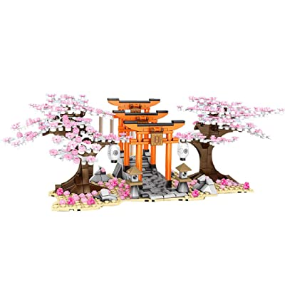 Yamix 647+Pcs DIY Girls Building Blocks Romantic Sakura Tree Cherry Blossom Building Bricks Educational Toy- Sakura Grove: Toys & Games