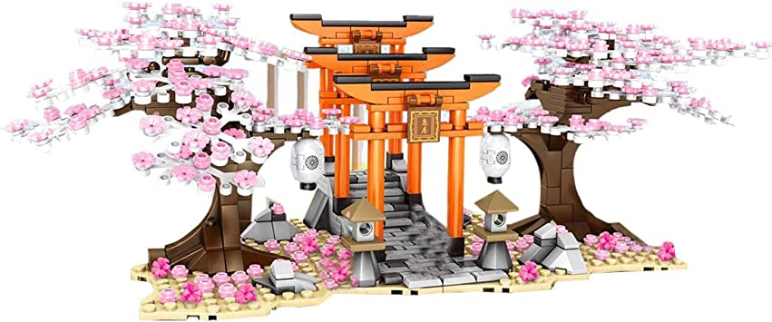 Dittzz Romantic Sakura Tree Cherry Blossom Building Blocks With Baseplates Building Kit Compatible With Lego Present Gift For Children And Adult 647 Pcs Amazon Co Uk Toys Games