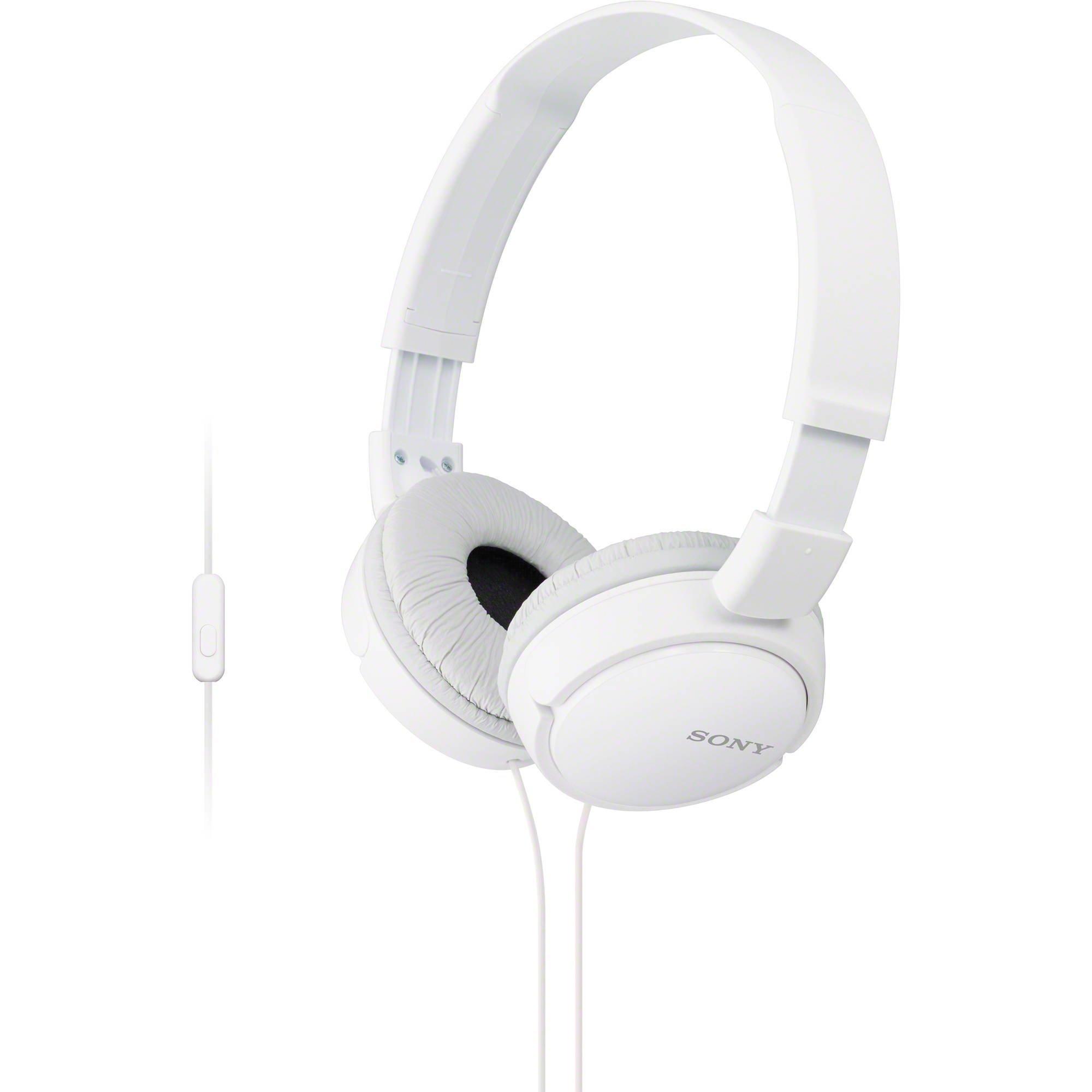 Sony MDRZX110AP ZX Series Auriculares extra bajos para smartphone con micrófono (blanco)