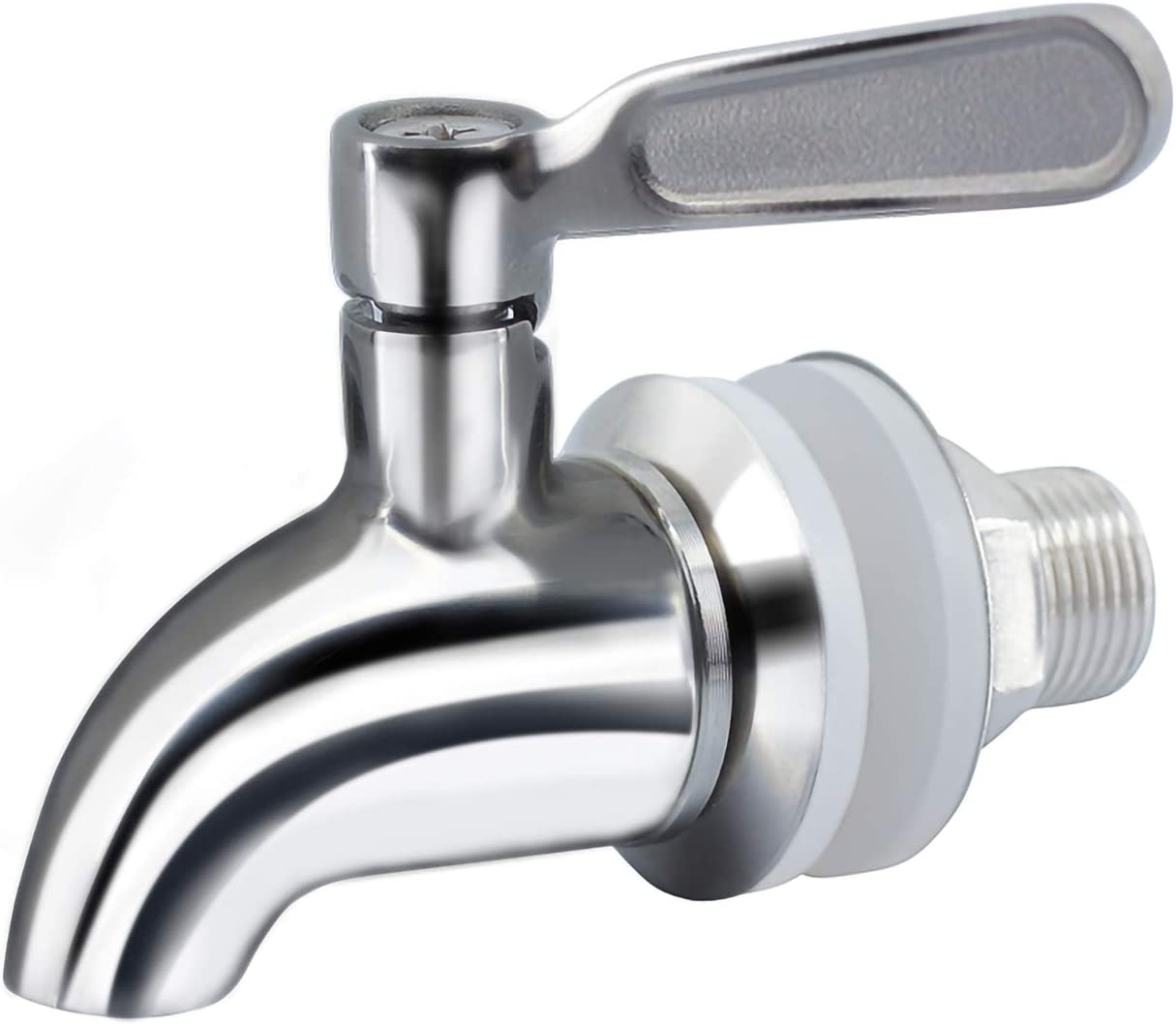 hgzaccompany Stainless Steel Spigot For Drink Dispenser, Replacement Metal Spigot For Beverage Dispenser, Water Dispenser Faucet, Food Grade Metal Spout. (1)
