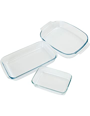Bakeware & Ovenware Glass Oven Roasting Baking Casserole Lasagne Dish Tray Moulde Tin Bakeware Model Cookware, Dining & Bar