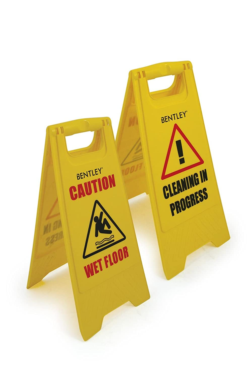 Bentley Industrial FS.01/1 A Frame Wet Floor Sign, Dual Sided, Plastic, Yellow Charles Bentley & Son Ltd