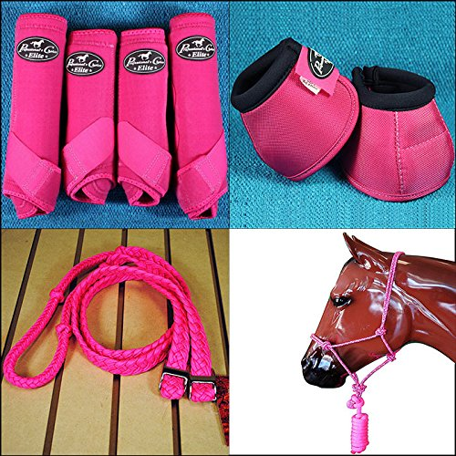 LARGE PROFESSIONAL CHOICE VENTECH SPORT BOOTS BELL HALTER REINS HORSE RASPBERRY by Professional's Choice