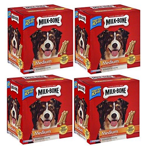 .Milk-Bone Original Dog Treats for Medium Dogs, 10-Pound, 4-