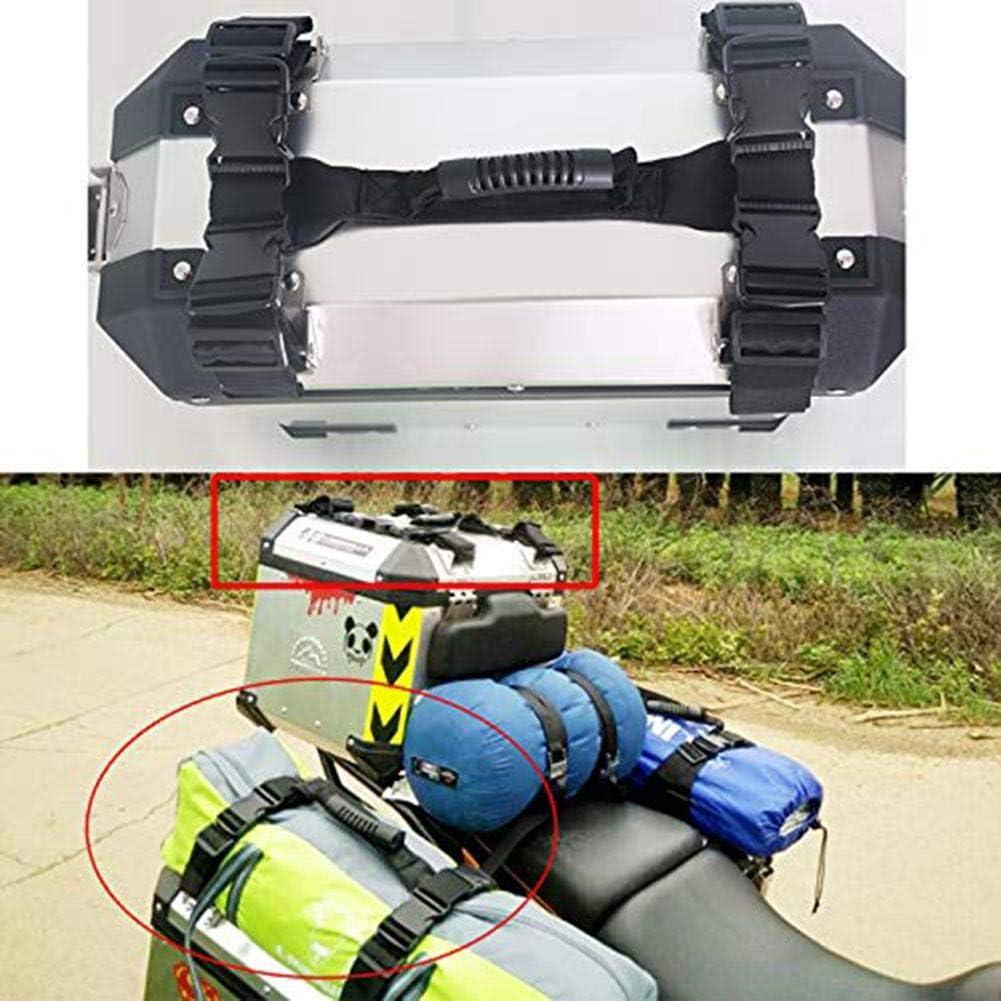 Trinquete Correas Juego de Amarre de Motocicleta Resistencia a la Rotura Resistente Aleación de Aluminio Caja Lateral Trenza Manija Cuerda para BMW G1200GS F800GS