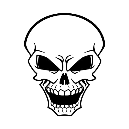Amazon Com Angry Skull Face Yelling 5 Inch Full Color Decal For