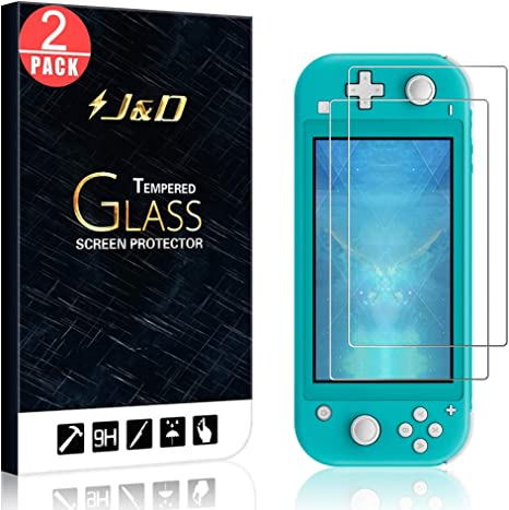 J&D Compatible para Nintendo Switch Lite Protector de Pantalla, 2 Paquetes [Vidrio Templado] [Cobertura Completa] Cristal Templado Protector de Pantalla para Nintendo Switch Lite: Amazon.es: Videojuegos