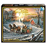 White Mountain Puzzles Pleasures of Winter - 1000 Piece Jigsaw Puzzle
