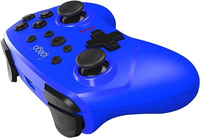 ElecGear Controlador Inalámbrico Compatible con Nintendo Switch, Bluetooth Remote Wireless Mando Pro Controller Gamepad Joypad with Sensor de Movimiento con Turbo, Gyro Axis, Dual Shock (Azul): Amazon.es: Electrónica