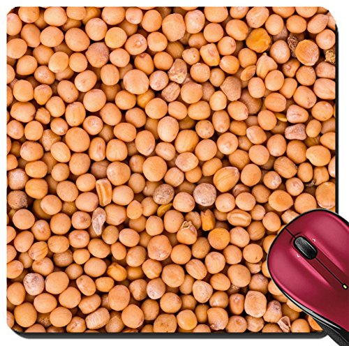 Liili Suqare Mousepad 8x8 Inch Mouse Pads/Mat Yellow mustard seeds Food background Close up shot Image ID ()