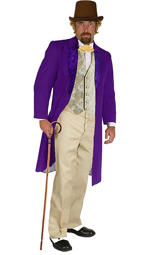 Victorian Men's Costumes: Mad Hatter, Rhet Butler, Willy Wonka Willy Wonka Famous Character Costume Adult $228.97 AT vintagedancer.com