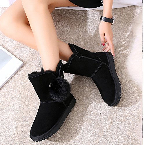 Non Winter Slip and Snow Black Boots Women's Warm BERTERI 4AaqxwI55
