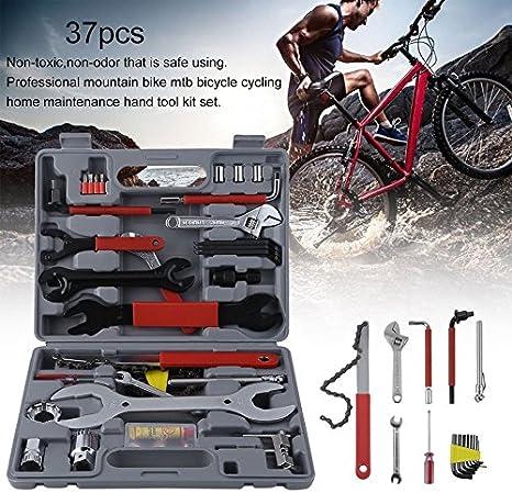 37pcs multifuncional combinado Kit de reparación de bicicleta para bicicleta de montaña para bicicleta Ciclismo mantenimiento de la casa Kit de herramientas de mano con funda 37pcs combinado para reparación de bicicletas