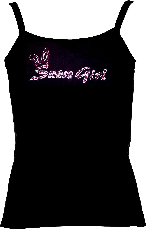 elegantes Damenshirt Snow Girl Strass pink kristall Apres Ski Shirt