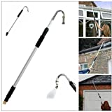 Kingfisher Telescopic Gutter Cleaner Aluminium Extendable Pole Water Fed Gutter Drain Drainage Cleaning Extends From 117cm to 185cm