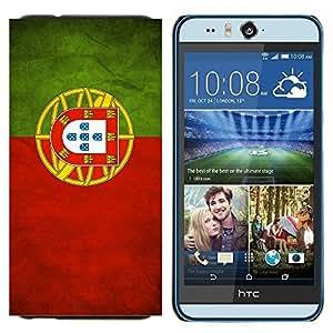 BearCase / Cubierta de protección Caso duro de la contraportada de Shell Plástico /// HTC Desire Eye ( M910x ) /// Nacional bandera de la nación País Portugal